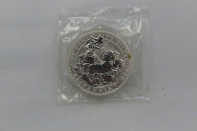 1999 Silver Britannia 1 oz Coin BU Great Britain in Mint Cello Packaging #008