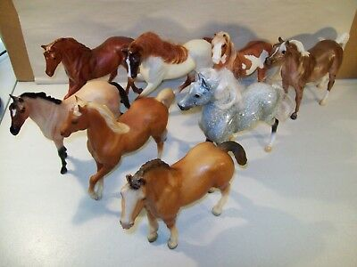 Lot Of 8 Large Breyer Reeves Horse Figures Arabian Stallion Clydesdale Foal
