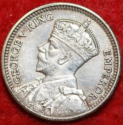 1933 New Zealand 3 Pence Silver Foreign Coin