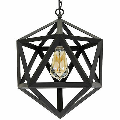 12in Industrial Wrought Iron Chandelier Light Fixture for Home Dining Room, Cafe