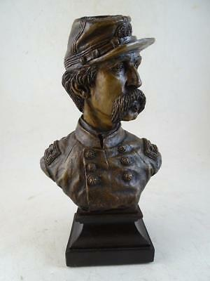 Vintage Ron Tunison General Chamberlain Civil War Statue Bust Cold Cast Bronze