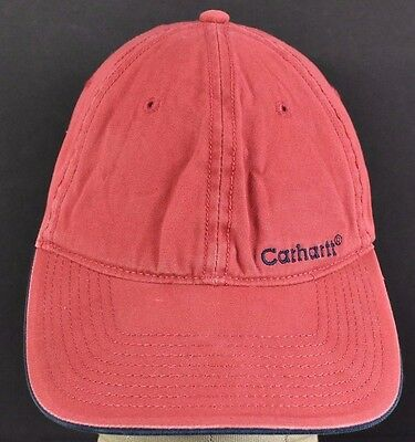 ca058299c7f91 Red Carhartt Company est 1889 Embroidered baseball hat cap adjustable strap