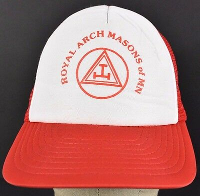 Red Royal Arch Masons of MN trucker hat cap adjustable snapback 25bad8a730ae