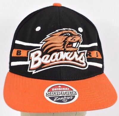 reputable site 66294 94e39 Black Oregon State Beavers Embroidered Baseball hat cap adjustable Snapback
