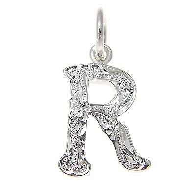 Heavy 925 Sterling Silver Hawaiian Plumeria Scroll Initial O Pendant Jewelry & Watches Necklaces & Pendants