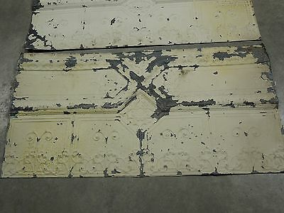 """Old Antique ( Metal ) tin ceiling tile (3) 48""""x24"""" FULL SHEETS,,, more available"""
