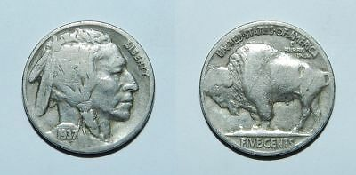 U.s.a.  1937 Buffalo Nickel
