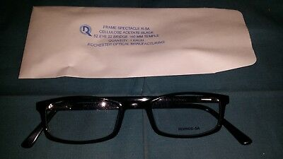 0b0face103 Rochester Optical R-5A Black Frame Spectacle Eyeglasses Size 52-22-160  Optometry