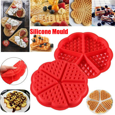 Waffles Silicone Mould Pan Cake Baking Baked Muffin Cake Chocolate Mold Tray