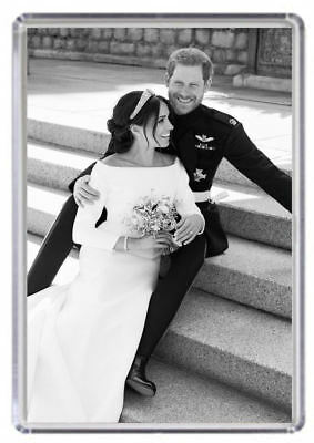 Prince Harry and Meghan Markle Royal Wedding Fridge magnet 06