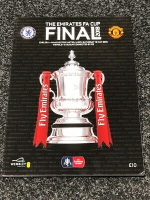 Chelsea v Manchester United 19th May 2018 Emirates FA CUP Final Programme