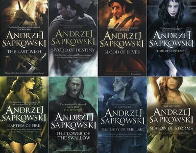 Andrzej Sapkowski 8 Book Set Collection (Witcher Series) RRP: £81.92