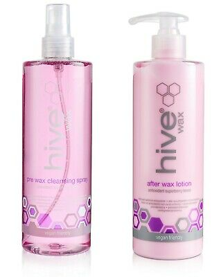 THE HIVE Pre Cleanser spray & After Wax Lotion with Coconut & Lime 400ml