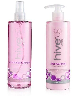 THE HIVE SUPERBERRY BLEND Pre Cleanser spray & After Wax Lotion 400ml