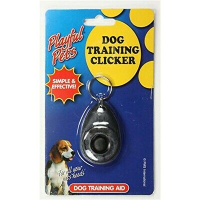 Dog Training Clicker On Key Ring - Pet Teaching New Puppy Trainer Tool Black
