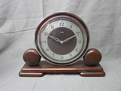 Metamec Electric Wood Mantel Clock  Vintage   ##keg 53 Jt