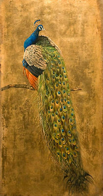 ZWPT287 large 100% hand-painted modern peacock art oil painting canvas