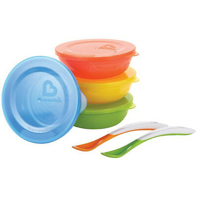 Munchkin Baby Feeding Dishes Food Bowls Weaning Love a Bowls 10Pk + 2 Spoons
