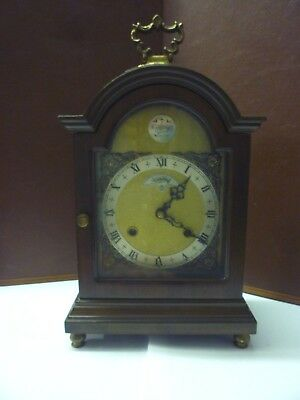 Pretty Vintage Miniature Wuba Double Striking 8 Day Bracket Clock FWO