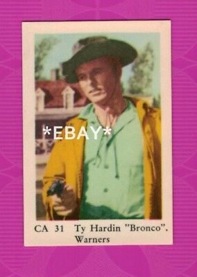 Ty Hardin - Bronco - 1962 Swedish vintage trading card #31