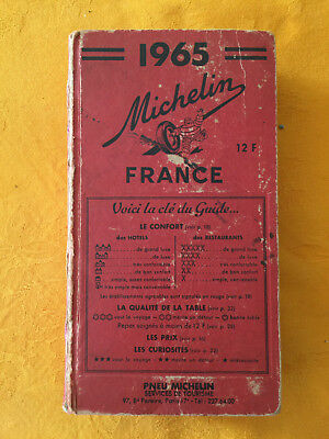 Guide Michelin Rouge France 1965