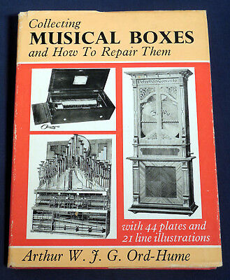 Collecting Musical Boxes and How to Repair Them Arthur Ord-Hume 1967 HC/DJ Illus