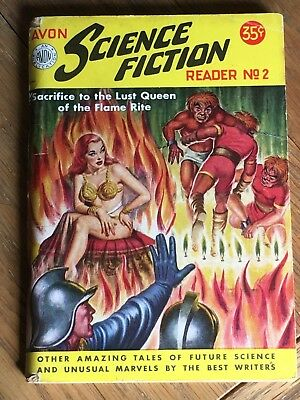Avon Science Fiction Reader No.2 US digest pulp - Sacrifice to the Lust Queen !