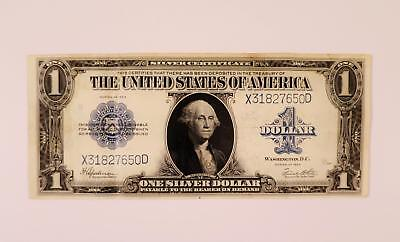 1923 Silver Certificate United States 1 One Dollar Bill Large Note Blue Seal