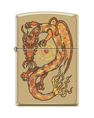 Zippo 0164, Fire Breathing Dragon, High Polish Brass Fusion Lighter