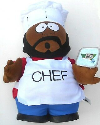 """Vintage 1998 Comedy Central South Park - CHEF - 14"""" Plush Toy (C64)"""