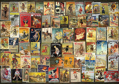 Jigsaw Puzzle Vintage Bicycle Advertising Poster Collage 1000 pieces NEW
