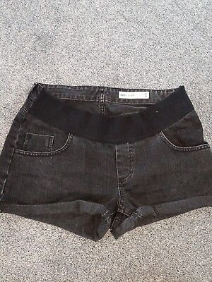 ASOS Black Denim Maternity Shorts Denim Size 10