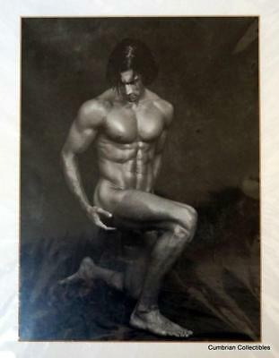 2 Black & White Nude Men Pictures - Mounted & Ready for Framing