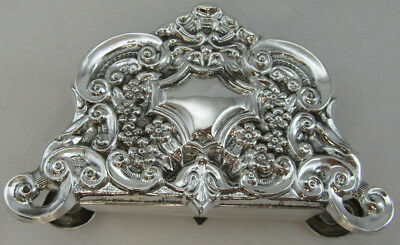 Sterling Silver 925 Napkin Holder With Modern Details VIEW PHOTOS 82 GRAMS