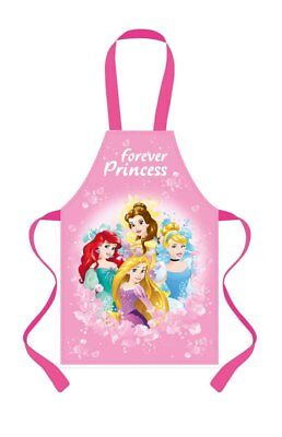 Brand New Disney Princess Forever Apron Pink Girls Childrens PVC Coated