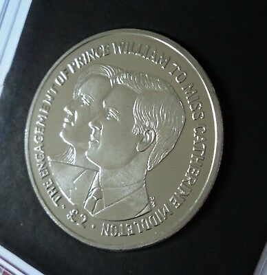 2010 British Indian Ocean Territory Prince William & Kate Middleton £2 Coin (BU)