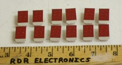 """12 - HP Agilent 5082-7653 .43"""" 7-Segment Red LED Display High Output Common Cath"""