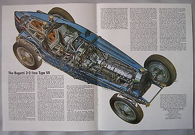Bugatti Type 59 Cutaway Drawing