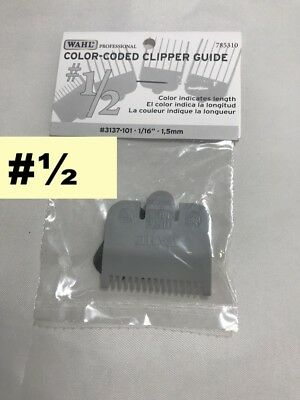 """WAHL PROFESSIONAL COLOR-CODED CLIPPER GUIDE #1/2  1/16"""" * 1,5mm #3137-101"""