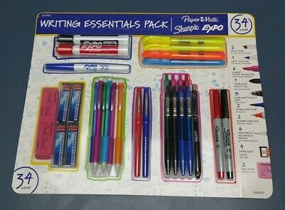 New Writing Essentials Pack PaperMate Sharpie Expo 34 Count