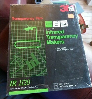 3M Transparency Film For Infrared Transparency Makers IR 1120 Sheets unopen