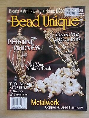Bead Unique #7~18 Projects~Xmas~Jewellery~Wine Glasses~Belt~Scarf~Purse~Frames..