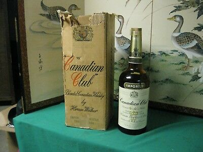 Canadian Club 6 Year Old Whisky - 1953 1 u,s gallon