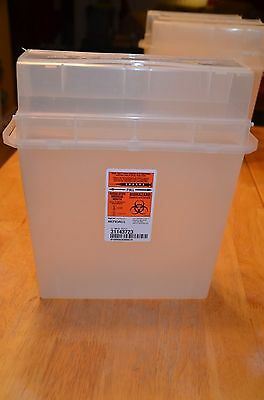 Sharps disposal container wall mount Biohazard Needle Tattoo Medical Kendall