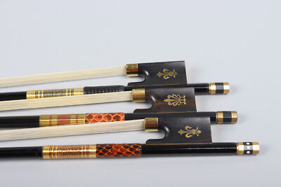 3 pcs Violin bow Carbon fiber 4/4 Full size violin Straight High Quality #R92