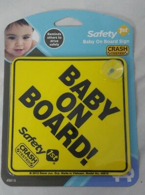 Safety 1st Baby On Board Warning Expectant Mom To Be Sign Board NEW free ship!