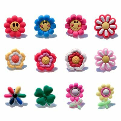 24pcs Lot Small Flower PVC Shoes Charms fit for Croc & Jibbitz Wristbands Gift
