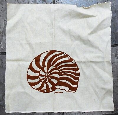 Marushka Chambered Nautilus Sea Shell  Unframed  Condition Vintage Fabric NEW