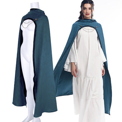 Medieval Hooded Cloaks Warrior Halloween Gothic Long Cape Cosplay Costume Unisex