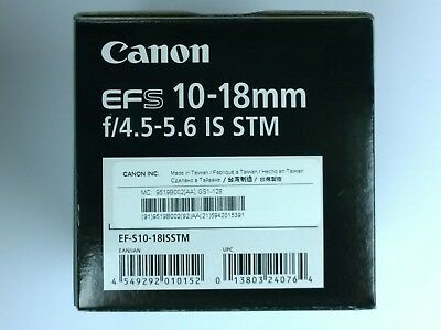 Nuevo Canon EF-S 10-18mm f/4.5-5.6 IS STM objetivo EF-S10-18ISSTM